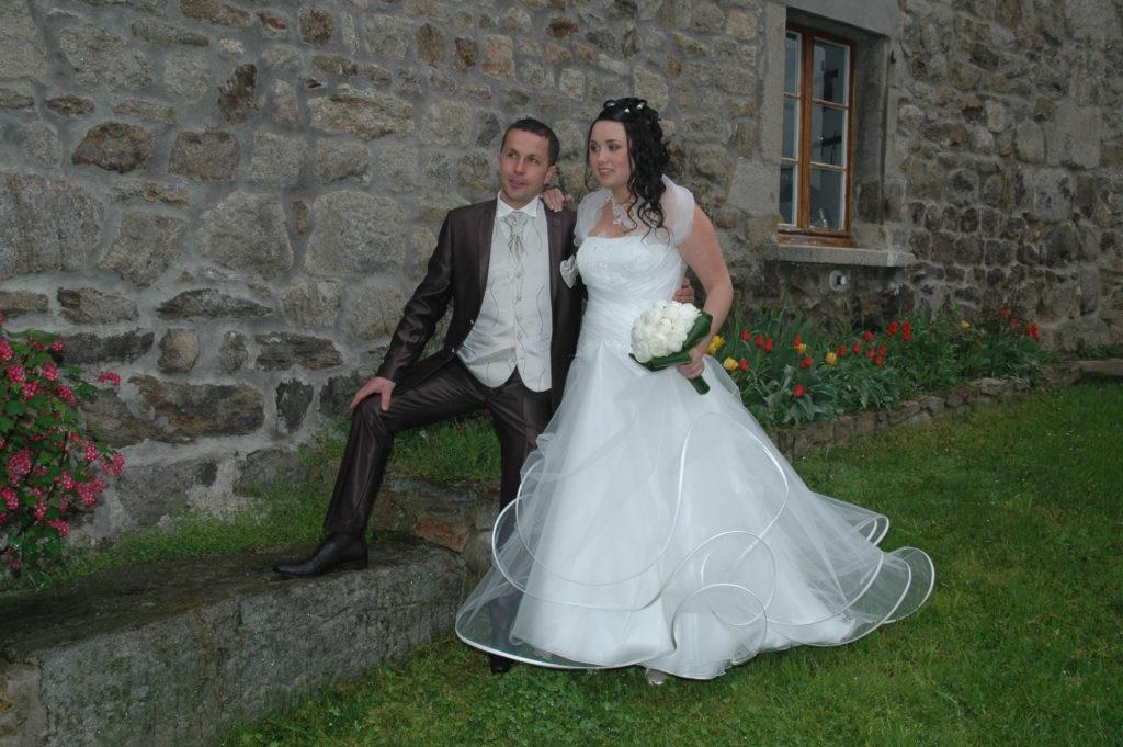 Robe de mariée avec volutes